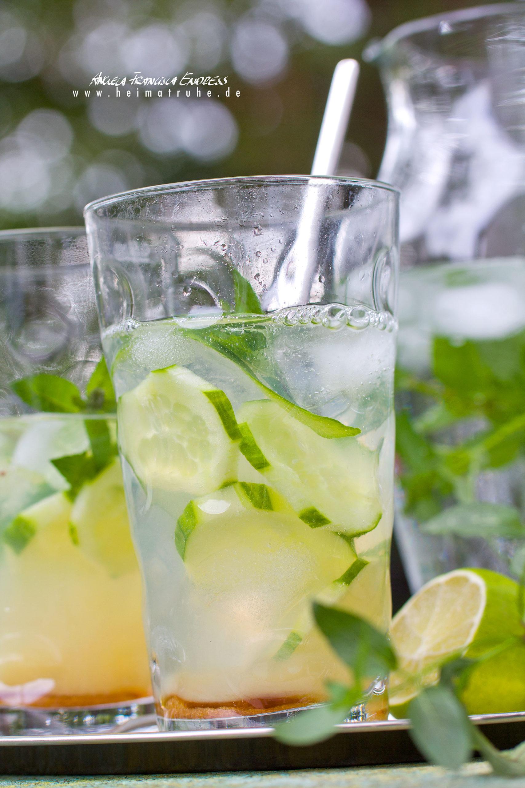 Gurken-Limetten-Drink