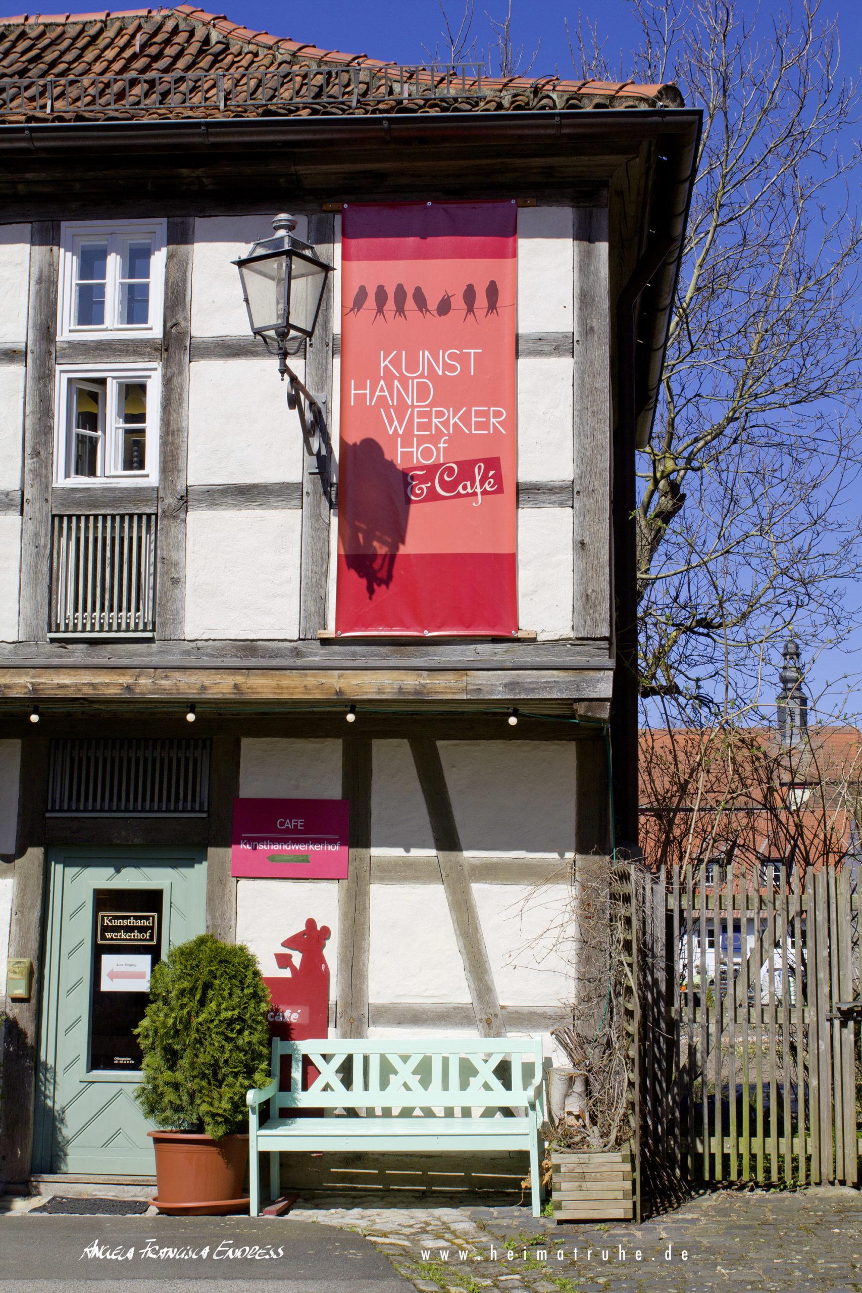 Rechte Seite vom Kunst-Handwerkerhof in Königsberg