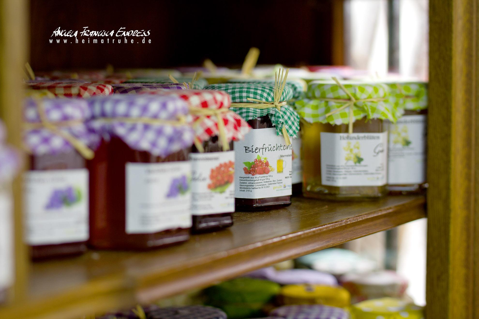 Marmeladen- und Gelees im Hofladen