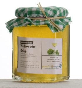 Sommeracher Weisswein Gelee Glas