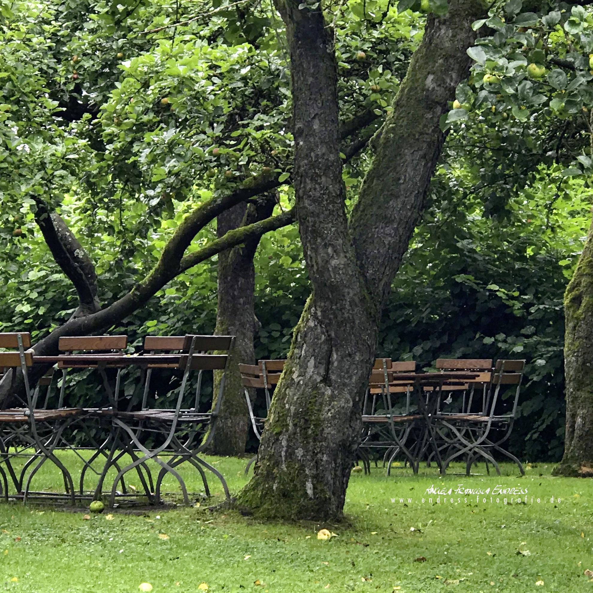 Biergarten Stühle vom Gasthof Mai, Köttweinsdorf