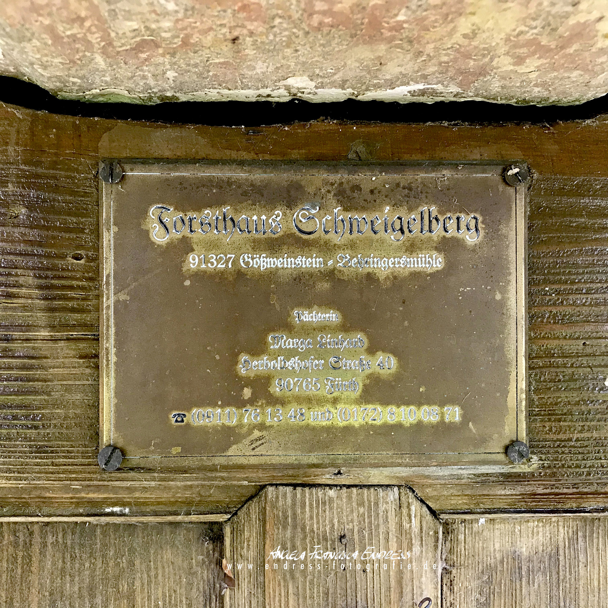 Schild Forsthaus Schweigelberg